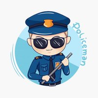 Policeman Stickers