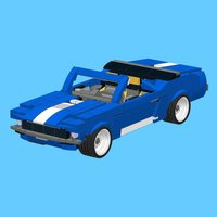 Blue Mustang for LEGO 31070