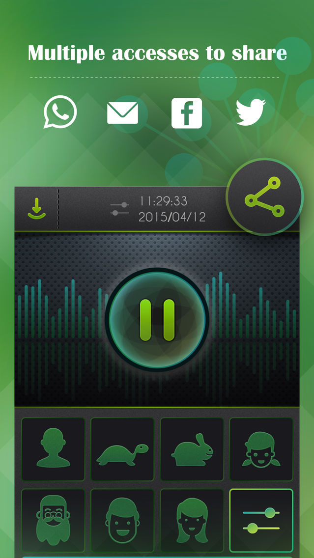 Voice Changer, Sound Recorder App for iPhone - Free Download