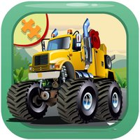 Monster Truck jigsaw puzzles games for kids