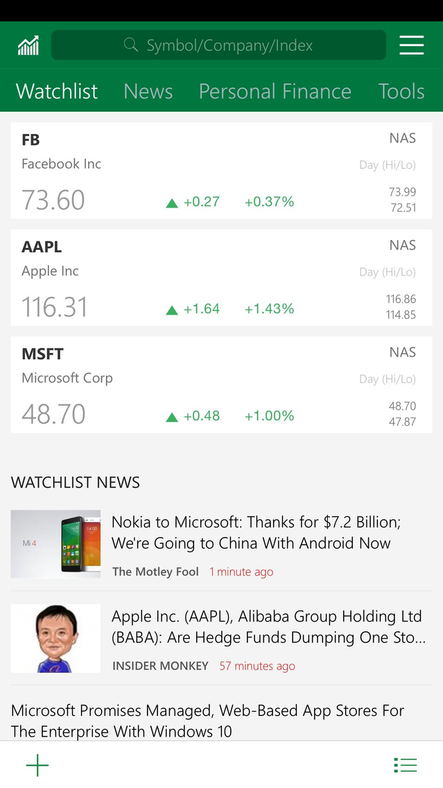 MSN Money App for iPhone - Free Download MSN Money for iPhone & iPad