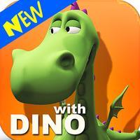 3D Dino Dinosaur Alphabet Learning Playground