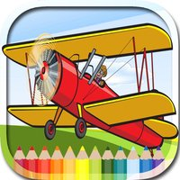 Airplanes Coloring Book Games For Kids