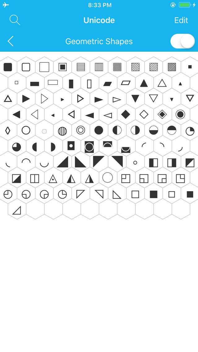 Unicode Map and Code Table App for iPhone - Free Download Unicode