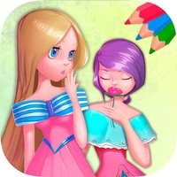 Princess coloring book pages – games for kids