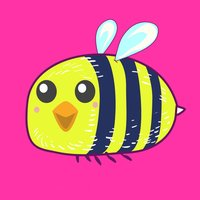 Busy Bee Pun Stickers