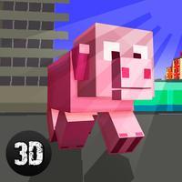 Blockhead Pig City Rampage 3D