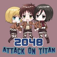 2048 Manga : Slide The Tiles Numbers Puzzle Match Games Free Editions for Attack On Titan