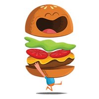 Cute Burger Sticker Pack