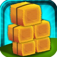 A Farm Hay Bail Stack - Building Fun Hay Towers FREE