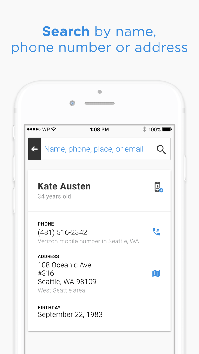 Whitepages People Search App for iPhone - Free Download Whitepages
