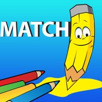Match words - shapes and colors for kindergarten