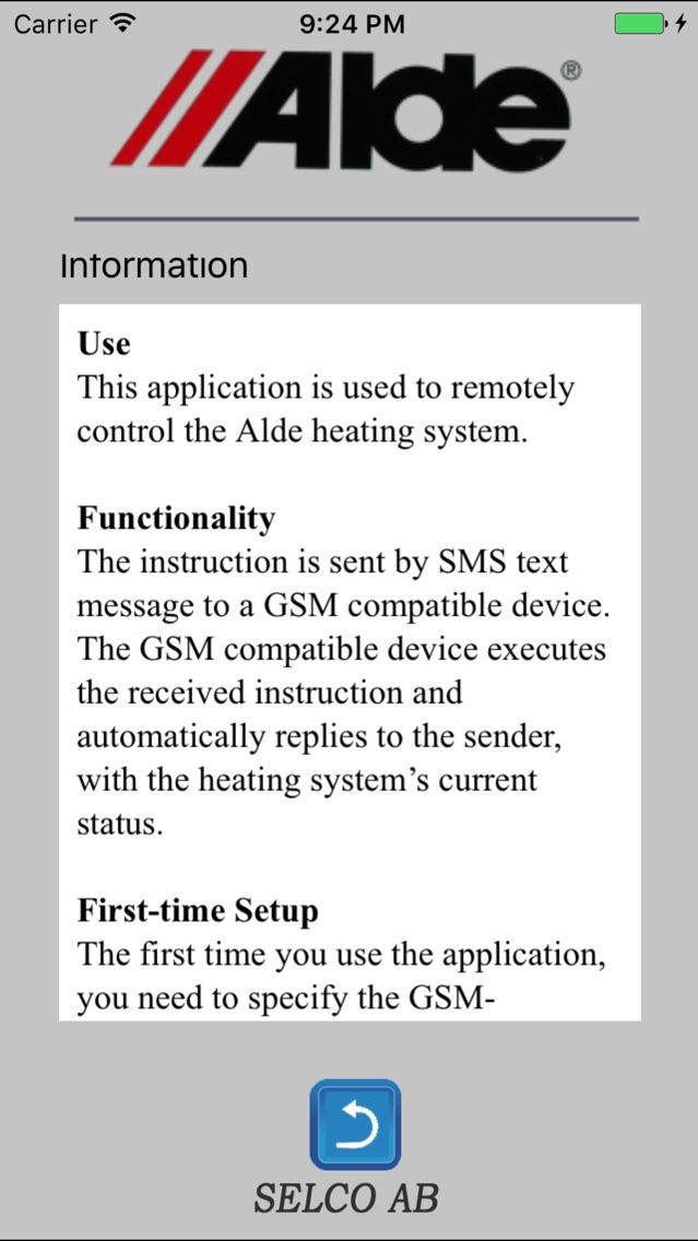 Sms alde smart control Does alde