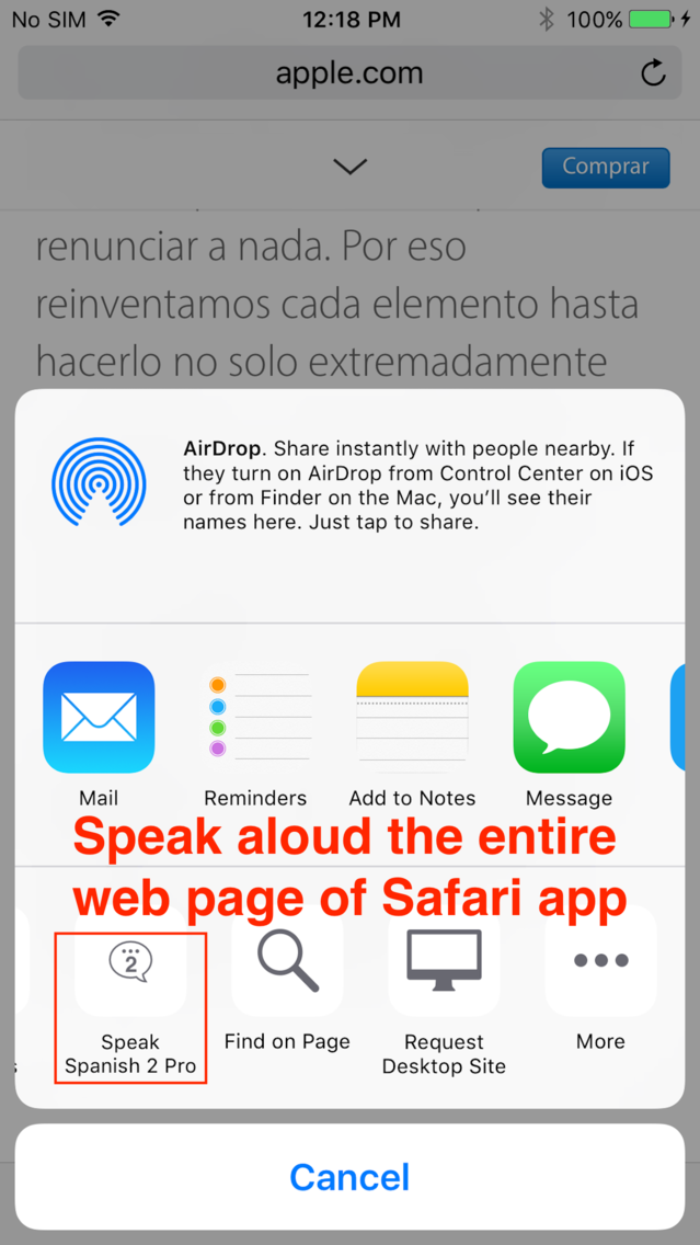 SpeakSpanish 2 FREE (12 Spanish Text-to-Speech) App for
