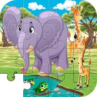 Elephant & Giraffe Puzzle Game Life Skill