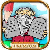 Children's Bible coloring book for kids - Paint drawings of Old and New Testaments Premium