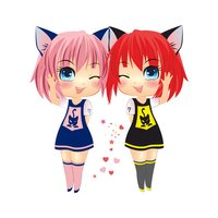 Sira & Mira - Chibi Manga Emoji Sticker Keyboard