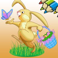 Easter Eggs bunny paint game for kids