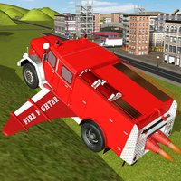 Free Flying Fighter Truck Call on Duty the City Hero
