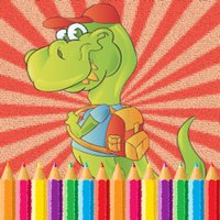 Little Dinosaur Coloring Pages Kids Painting Game