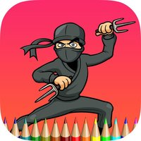 The Ninja Coloring Book: Learn to draw and color a ninja, weapon and more
