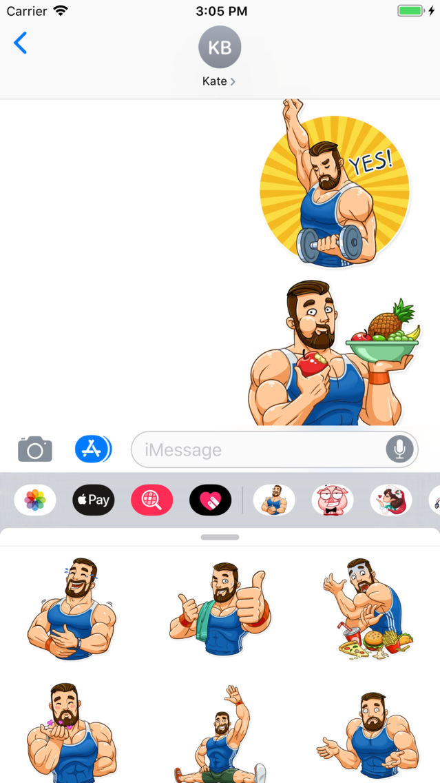Sport Guy Sticker Pack App for iPhone - Free Download Sport Guy