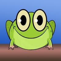 Frog on a log in a bog