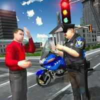 Traffic Cop Motorbike Rider 3D