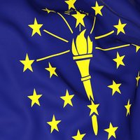 Indiana Flag Stickers