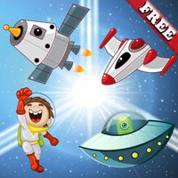 Space Puzzles for Toddlers : Discover the galaxy , the space and UFO ! FREE app