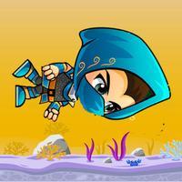 Blue Boy Underwater