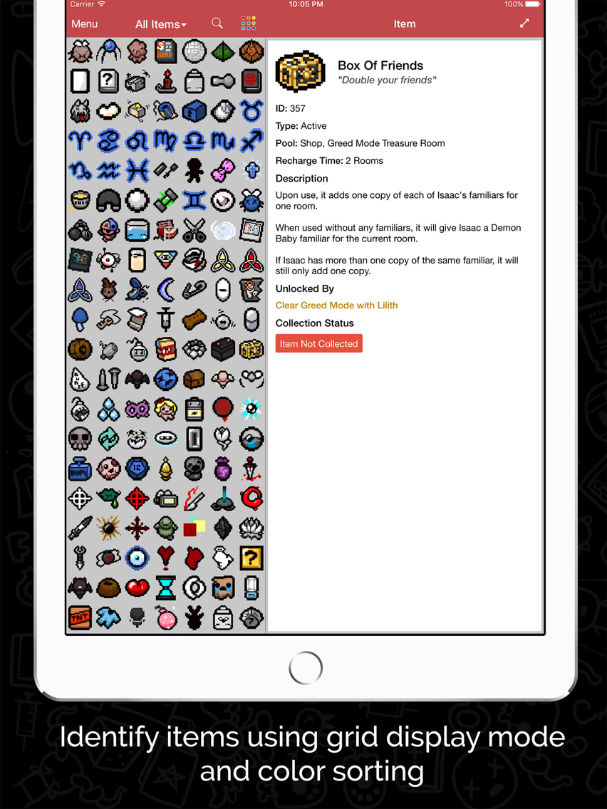 Guide for Binding of Isaac App for iPhone - Free Download