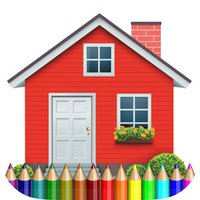 coloring book the house free games for kids