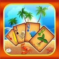Beach Island Tri Tower Pyramid Solitaire