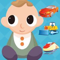 My Vehicle Game - Baby Learning English Flashcards