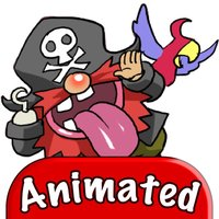 Pirate Red Beard Animated Sticker Pack