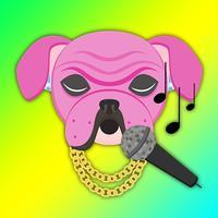 Pink Bling Hip Hop Bulldog