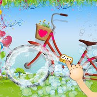 Kids bicycle washing salon: wash baby bikes for play