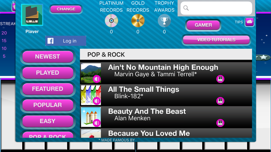 Play Along Keys piano karaoke App for iPhone - Free Download