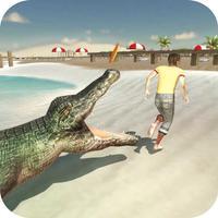 Wild Crocodile Beach Attack