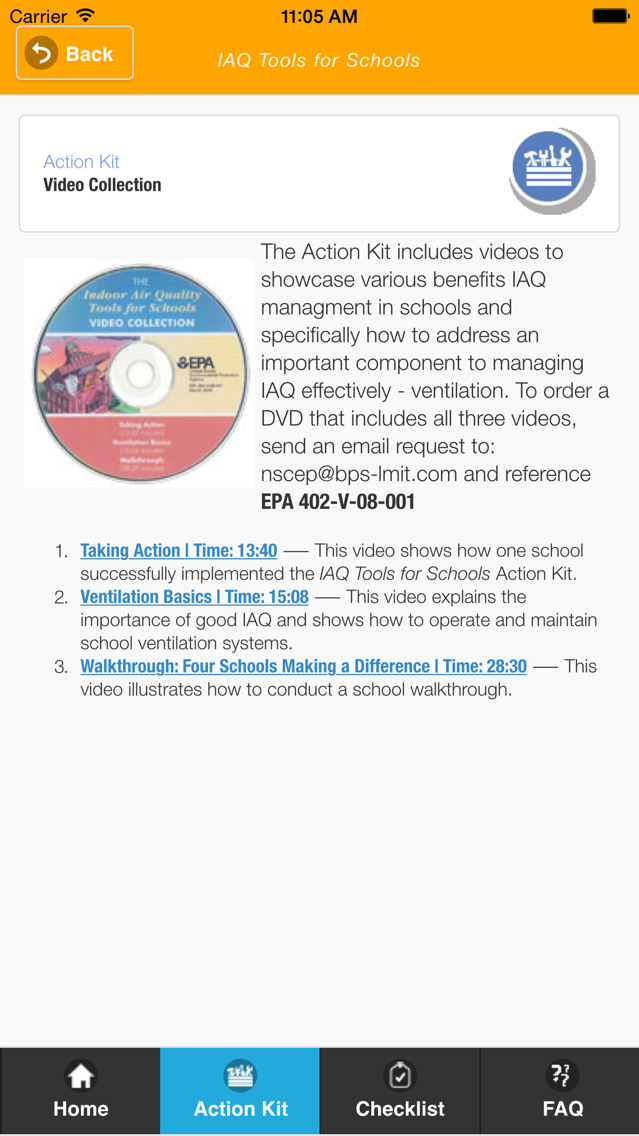 EPA Indoor Air Quality Schools App for iPhone - Free