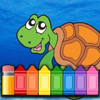 Children Funny Fish Coloring Book - Games for kids
