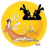 Aha Fly to Moon -- The goddess Chang'e fly to the moon