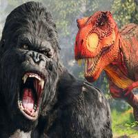 Apes Vs Dinosaur - Throne War