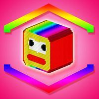 Jumping cube - Pixel building blocks adventure