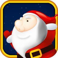 Jumping Santa Claus is like a spring ninja on christmas