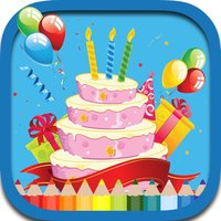 Birthday Cakes Coloring Book Games For Kids