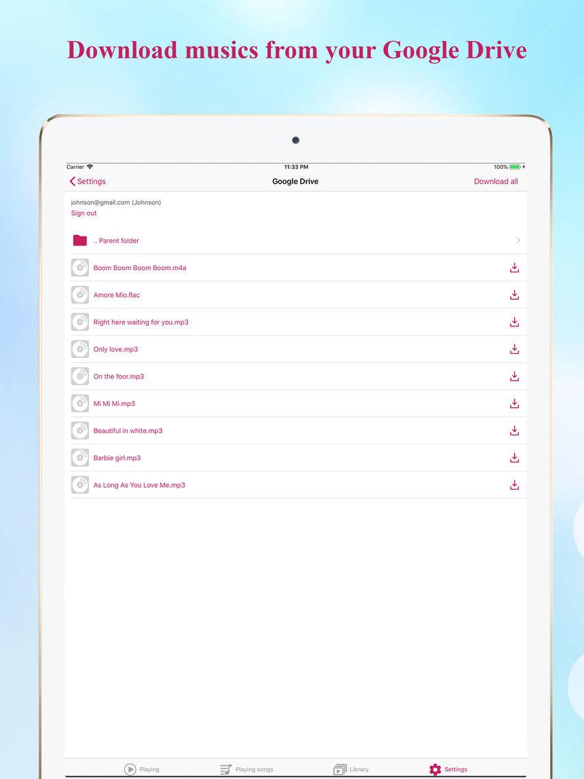 Muzik Box - An elegant player App for iPhone - Free Download Muzik