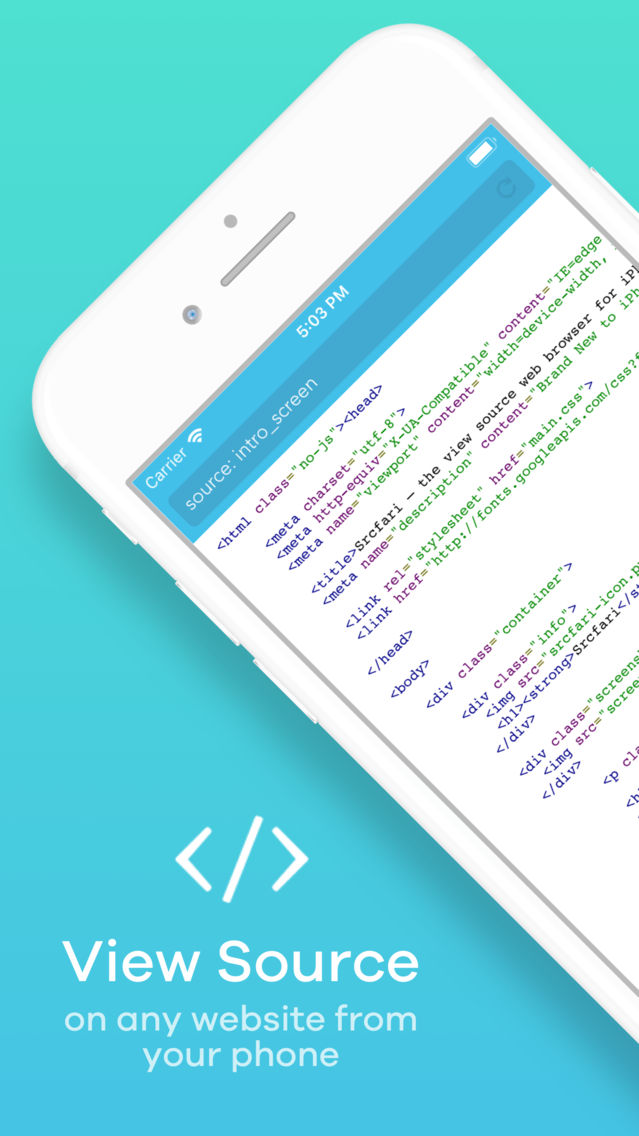 Srcfari: view html source code App for iPhone - Free Download