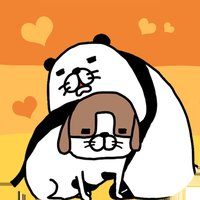 Panda and Dog: Always Dog Cute